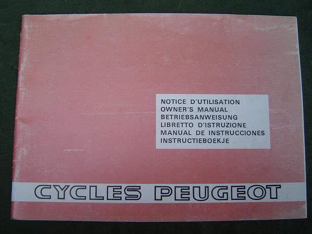 PEUGEOT  101.102,103,105 TSE.R   1981 owner's manual