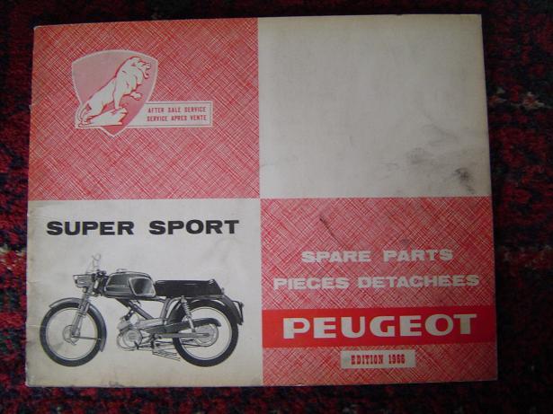 PEUGEOT  super sport 1966 spare parts list moped cyclomoteur
