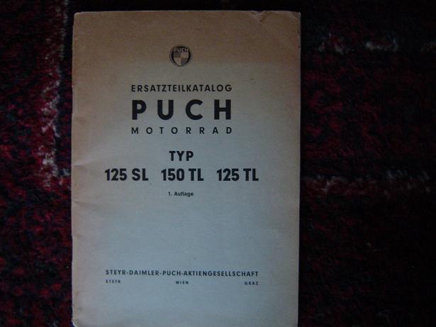 PUCH 125 SL 150 TL 125 TL ersatzteilkatalog 1. auflage
