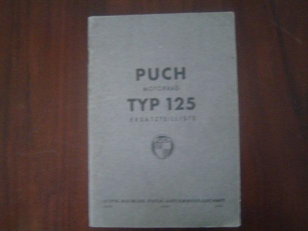 PUCH 125 motorrad 1948 ? ersatzteilliste