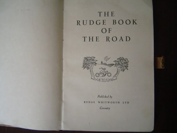 the RUDGE book of the road 1927 ? Rudge Witworth