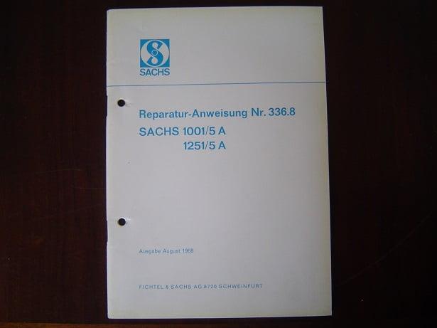SACHS 1001/5A 1251/5A 1968 5 gang  98 cc 125 cc reparatur anweisung
