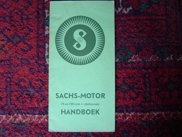 SACHS MOTOR 75 – 120 cc stamo stationaire motor 1938