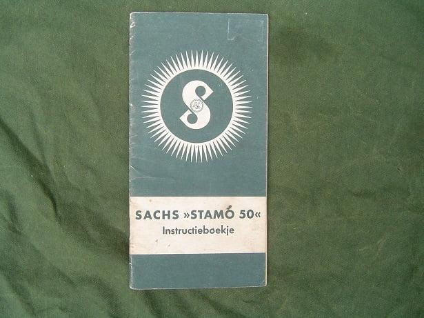 SACHS 50 STAMO  1955 instructie boekje