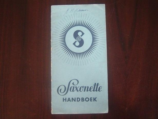 SAXONETTE 1938 handboek  sachs saxonette hilfsmotor