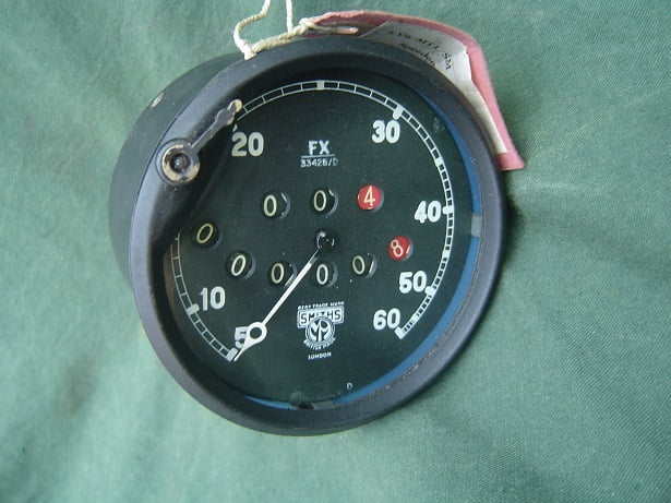 SMITHS FX 60 miles speedometer trip reset 45 degrees angled 1930's 1940's