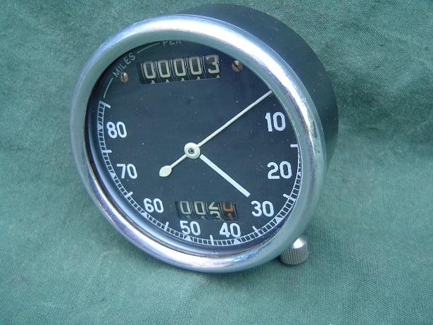 SMITHS 80 miles chronometric speedo meter mijlen teller tachometer pre war ?