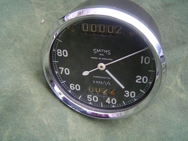 SMITHS S433/1/L 80 miles chronometric speedometer mijlen teller 80 MPH