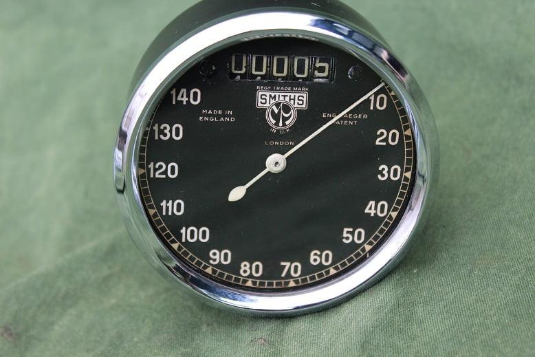 SMITHS 140 kilometres a 'l heure chronometric speedometer kilometer teller