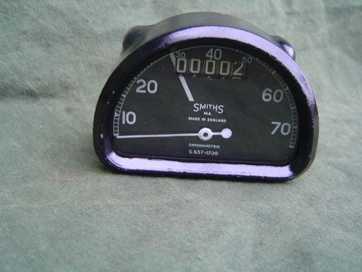 SMITHS S 657   1700  70 miles D type chronometric speedometer mijlenteller tacho