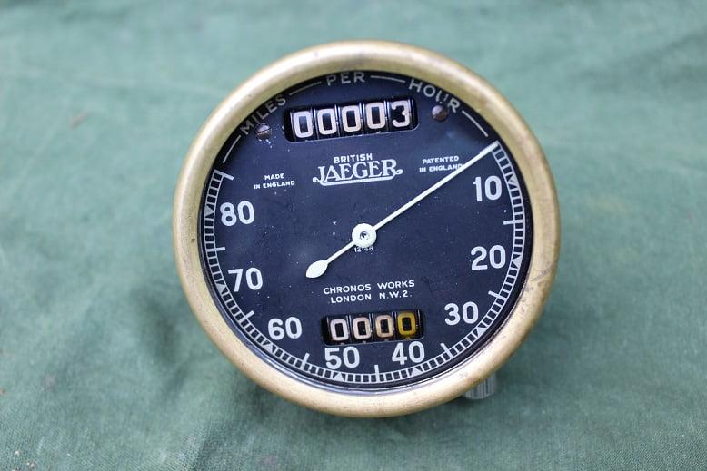British JAEGER S113 1939 chronometric 80 miles speedometer mijlen teller tacho