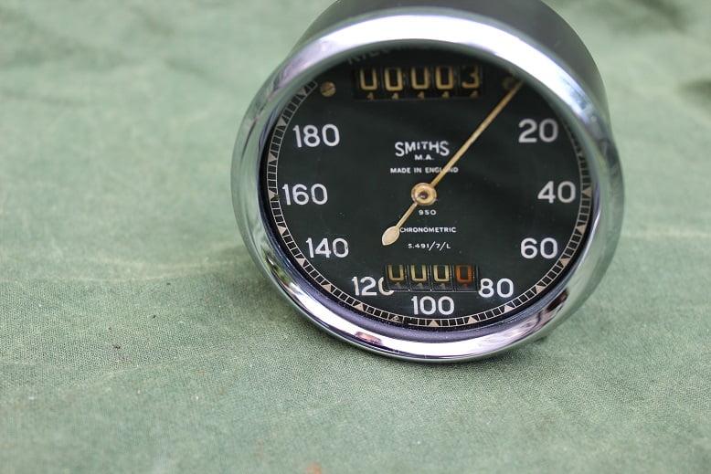 SMITHS S491/7/L 180 KM chronometric speedometer kilometer teller tacho S 491 / 7 / L