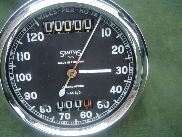SMITHS S 608/3 120 miles chronometric speedometer S 608 /3 mijlen teller