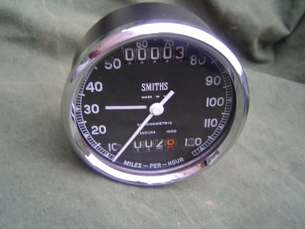 SMITHS SC 5301/44  120 MPH chronometric speedometer mijlen teller