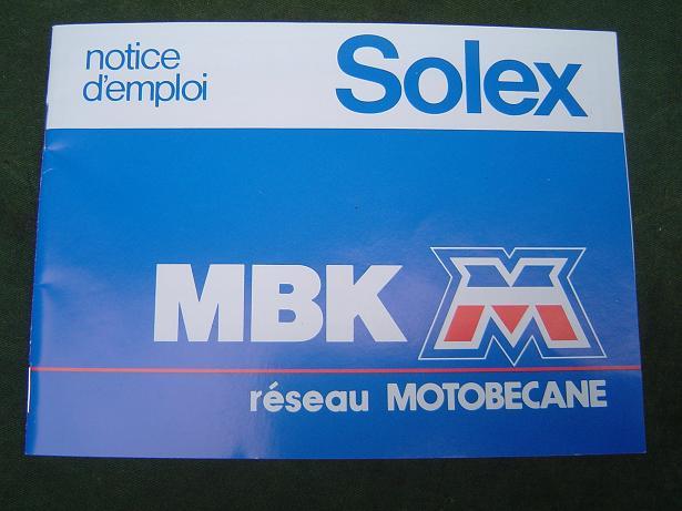 SOLEX  motobecane  notice démploi  franstalig instructie boekje