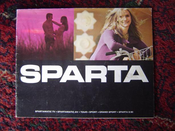 SPARTA  spatramatic , tour , grand sport , sparta 8/80 1960's folder