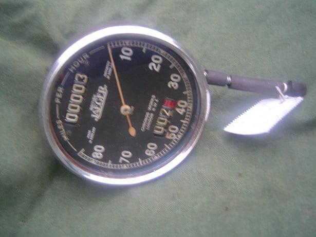 BRITISH JAEGER 80 miles 1935 chronometric speedometer