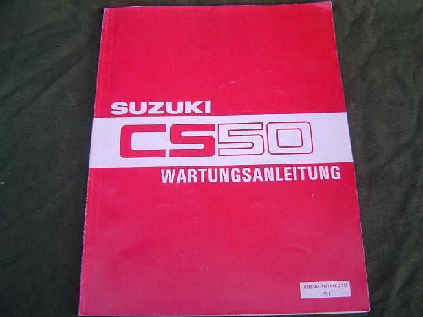 SUZUKI CS50  CS 50  1983 wartungs anleitung duitstalige werkplaatshandleiding