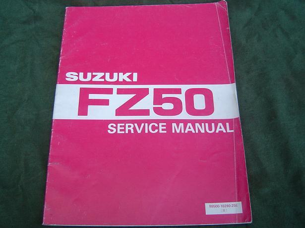 SUZUKI FZ 50 1986 service manual