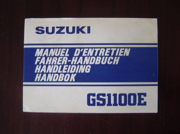 SUZUKI GS1100E 1981 handleiding  GS 1100 manuel d' entretien