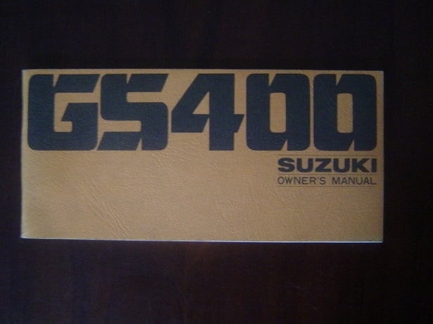 SUZUKI GS400 1977 owner 's manual GS 400