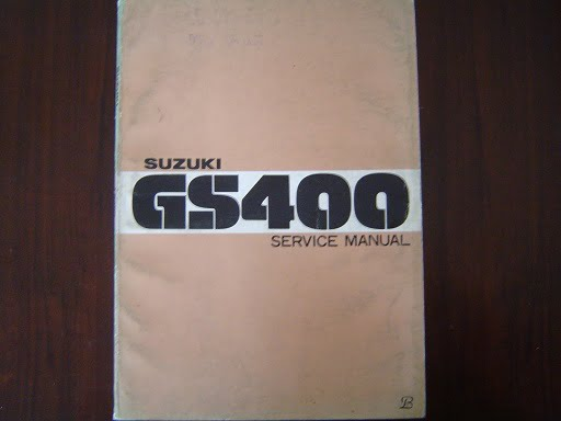 SUZUKI GS400 1976 service manual  GS 400