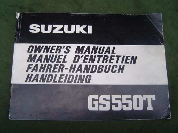 SUZUKI GS 550 T  GS550T 1980 owner's manual handleiding