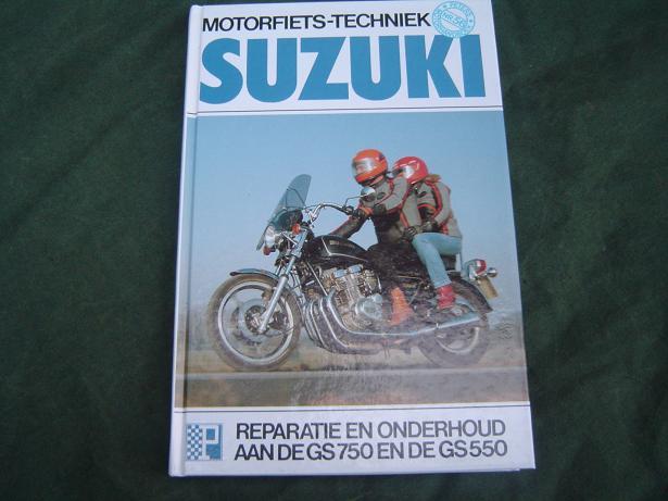 SUZUKI GS 550 GS 750 1976 – 1982 werkplaatsboek GS550 GS750