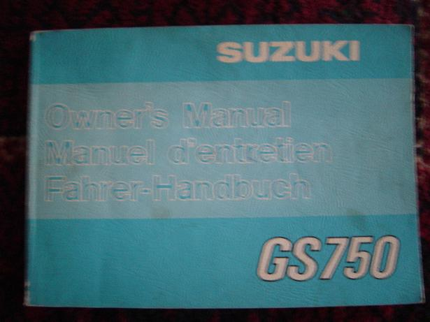 SUZUKI GS750  1977 owner's manual GS 750 fahrer handbuch