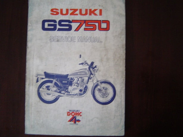 SUZUKI GS750 1976  DOHC service manual  GS 750 werkplaatsboek