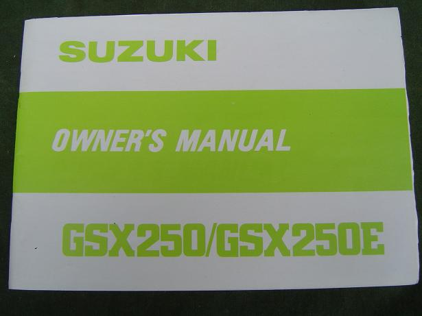 SUZUKI GSX 250  1979  owners manual
