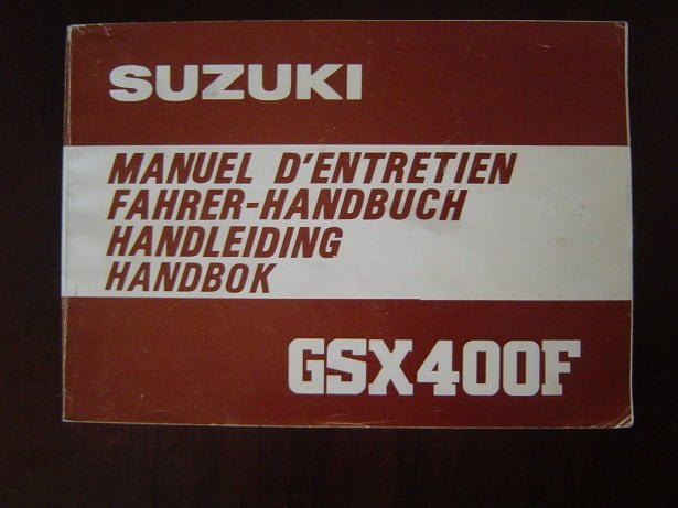 SUZUKI GSX400 F 1981  owner 's manual handleiding  GSX 400F