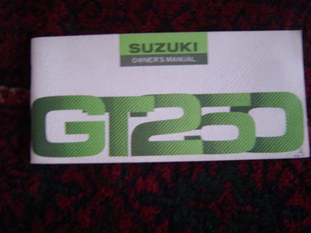 SUZUKI GT250  1976  owner's manual GT 250