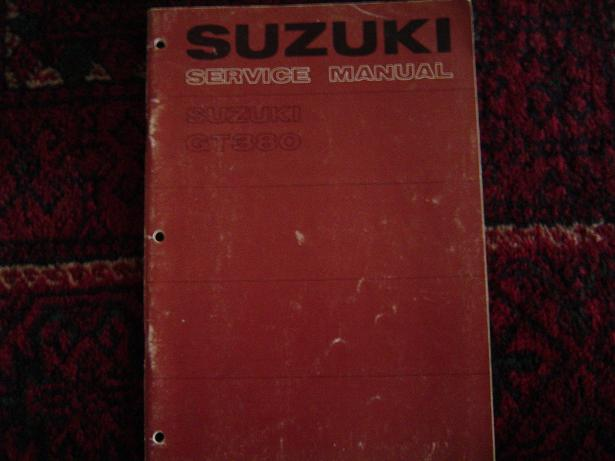 SUZUKI  GT380   1972 service manual GT 380