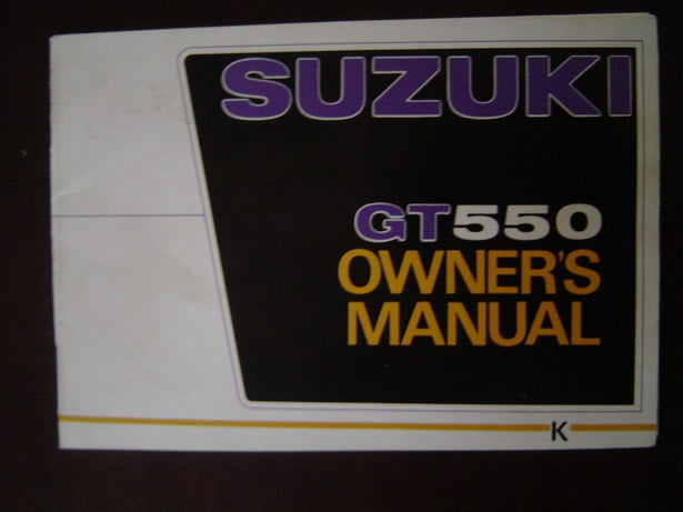 SUZUKI GT550  RAM AIR  owner 's manual  GT 550  HELD reserved