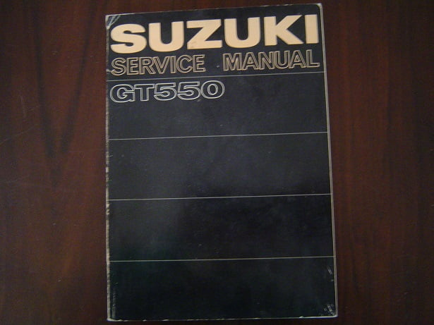SUZUKI GT550 1972 service manual GT 550