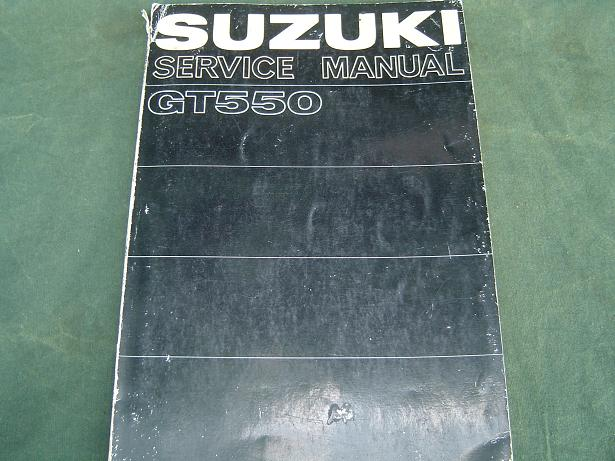 SUZUKI GT 550 ram air 1972  service manual