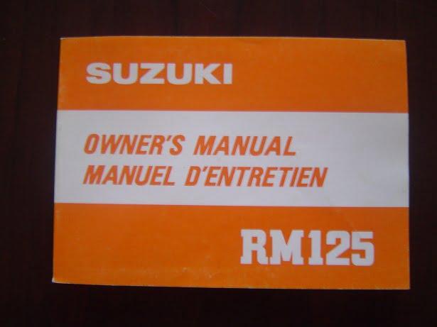 SUZUKI RM125 1980 owner's manual RM 125 manuel d'entretien