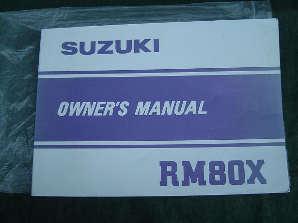 SUZUKI RM80X 1981 owner's manual  RM 80 X