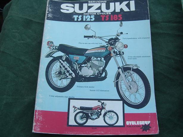 SUZUKI TS 125 TS 185 repair manual werkplaatshandleiding