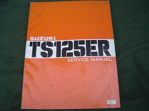 SUZUKI TS125ER 1979 service manual TS 125 ER  handbook