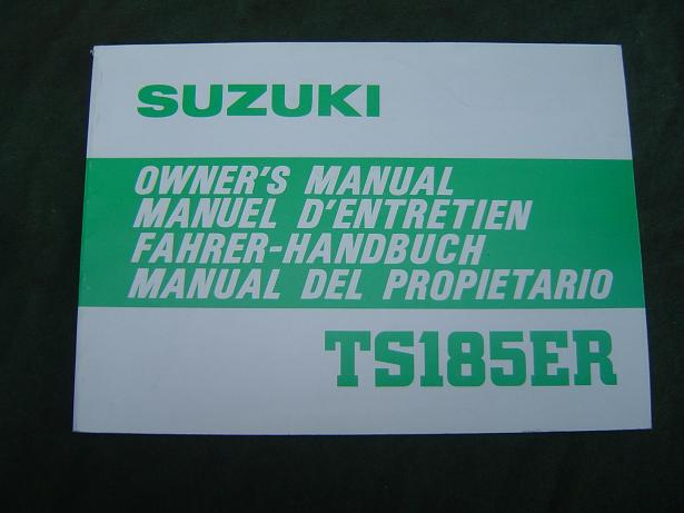 SUZUKI TS 185 ER 1979 owner's manual