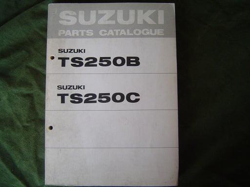 SUZUKI TS 250 B en TS 250 C 1977 parts catalogue l TS250