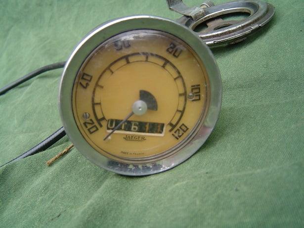 JAEGER 120 KM teller jaren 40 /50 motorfiets speedometer motorcycle