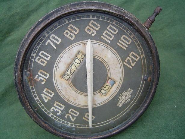 HARLEY DAVIDSON WLA teller speedometer   SOLD