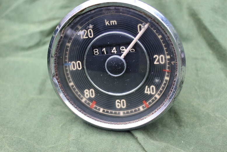 MERCEDES 170 ?? 1952 120 KM kilometer teller speedometer tachometer