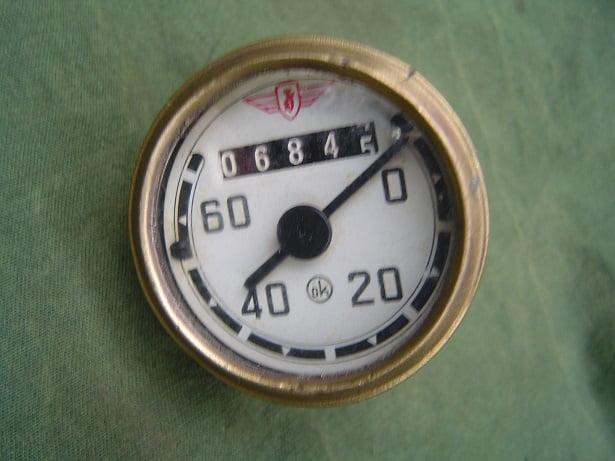 ZÜNDAPP OK 60 KM  1955 kilometer teller tacho speedometer