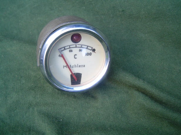 MATCHLESS 100 graden Celsius temperatuurmeter temperature gauge 42 mm