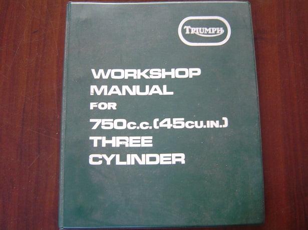 TRIUMPH  1973 TRIDENT 750 cc triple workshop manual werkplaatsboek