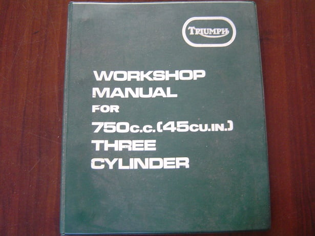 TRIUMPH 750 cc  1972  three cylinder workshop manual